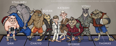 The MMA Animals conceptual characters.  (PRNewsFoto/Appiphany Technologies Holding Corp.)