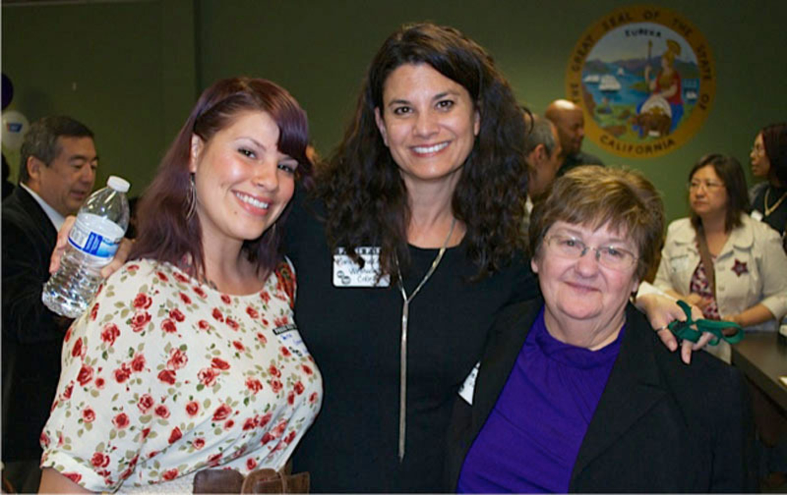 Upcoming Westwood College graduate Teena Gunnoe; Monica Shakin, Director of Career Services for Westwood College; and Joanne Valle, Executive Director for the Harbor City/Harbor Gateway Chamber of Commerce.  (PRNewsFoto/Westwood College)