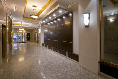 Upgraded lobby at 24 Commerce Bldg. includes ADA-accessibility and upgraded elevators.