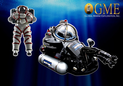 Florida-based Global Marine Exploration, Inc., positioned as the only company in the world to use next-generation deep-ocean tools such as 'Exosuit' and 'Deepworker' submersibles in treasure salvage and shipwreck exploration; seeks investors to expand already successful operations.  (PRNewsFoto/Global Marine Exploration, Inc.)