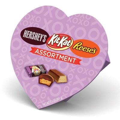HERSHEY'S Milk Chocolate, KIT KAT(R) & REESE'S Assortment Heart Box