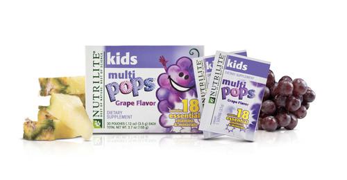 NUTRILITE Kids MULTIPOPS multivitamin.  (PRNewsFoto/Amway)