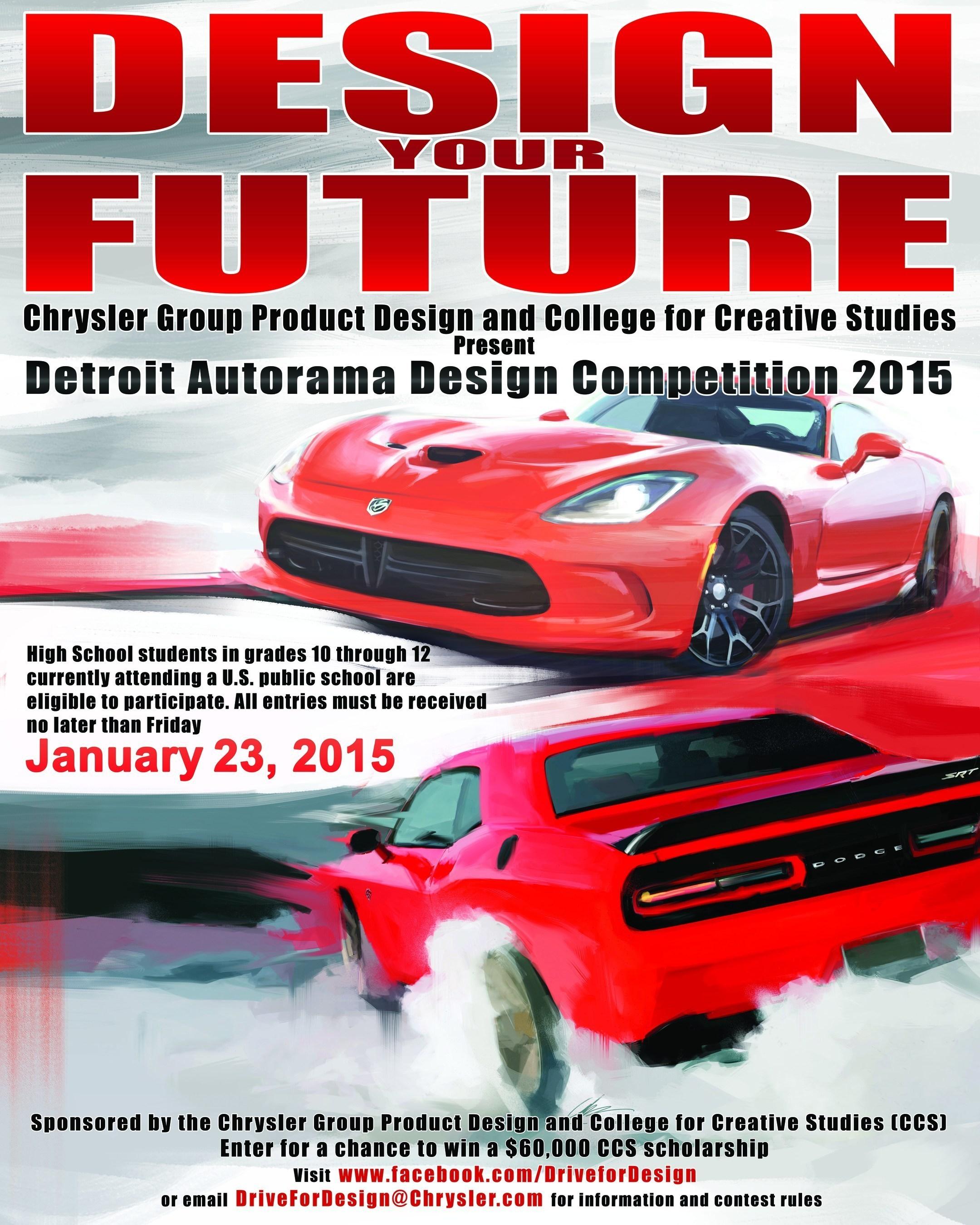 Chrysler Group Llc Hosts Nationwide High School Automotive Design Competition