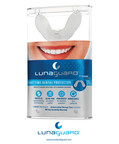 The LunaGuard(TM) Nighttime Dental Protector is a bite guard that provides better protection than conventional nighttime bite guards due to its unique design and materials. It is made of a strong thermoplastic that prevents the user from biting through the guard. Engineering tests show the LunaGuard(TM) provides up to 30% better protection than conventional nighttime bite guards. This is significant since the LunaGuard(TM) is only 1.6 mm thick. Additionally, tests show that the LunaGuard(TM) offers 90% more force absorption and is 8x tougher than other available bite guards.