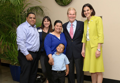 Pediatric heart patient Jaden Vidal-Velasquez and his parents, Jhonny Vidal and Belkis Velasquez, St. Joseph's Children's Hospital Communications Coordinator Amy Gall, and BayCare Health System Director of Government Relations Keri Eisenbeis meet with Senator Bill Nelson on Capitol Hill June 20, 2013.  (PRNewsFoto/St. Joseph's Children's Hospital)
