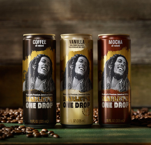 Marley's One Drop coffee drinks have re-launched in Rexam 12oz. SLEEK(R) cans.  (PRNewsFoto/Rexam)