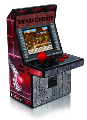 2015 New York Toy Fair: Lexibook(R) launches the 1st portable Arcade Machine for video game fans.
