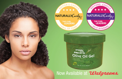 The Award Winning Ampro Pro Styl Olive Oil Gel is Now Available Nationwide at Walgreens (PRNewsFoto/Ampro Industries, Inc.)