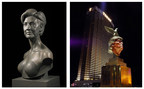 Sculptor of Hillary's 'Topless' Presidential Bust Unveils Controversial Trump Monument in Las Vegas