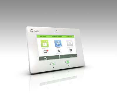 The revolutionary all-in-one IQ Panel platform features an embedded camera; integrates with Alarm.com's market-leading interactive security, video monitoring, energy management and home automation; and leverages the robust software development environment of the Linux OS with embedded Android, enabling innovative applications and the routine delivery of software upgrades to customers over the cloud with dual path cellular and Wi-Fi connectivity.