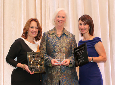 2016 WWPR PR Woman of the Year Martha Boudreau (center) with finalists Maria Rodriguez (left) and Sharon Reis (right)