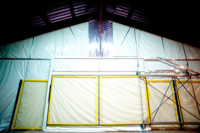 Steel Guard Safety Introduces Energy-Shield Insulated Curtains with New 3M Thinsulate Fold-A-Way Technology (PRNewsFoto/Steel Guard Safety)