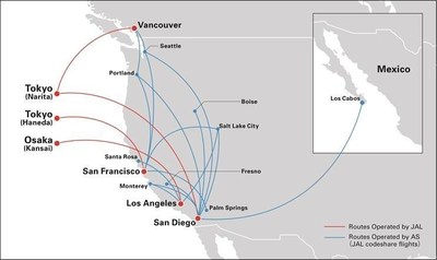 JAL and Alaska (AS) Codeshare Routes