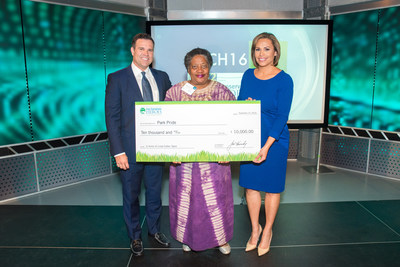 Ch. 2 WSB-TV's Justin Farmer and Jovita Moore announced Linda Cotten Taylor as Atlanta's 2016 Cox Conserves Hero. Her nonprofit of choice, Park Pride, will receive $10,000.
