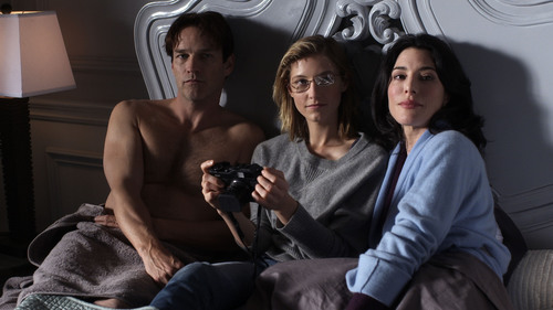 "Stephen Moyer, Caitlin Gerard, Jaime Murray in ""Jan"" on the new YouTube channel WIGS.  (PRNewsFoto/WIGS)"