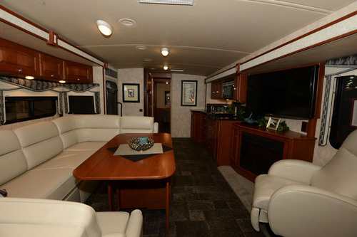 "Winnebago Sightseer 35G featuring the innovative new ""InTable"".  (PRNewsFoto/Winnebago Industries, Inc.)"