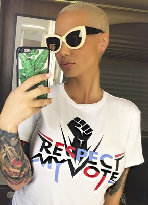 "DANCING WITH THE STARS CONTESTANT, MODEL, AUTHOR AND TALK SHOW HOST AMBER ROSE ANNOUNCED AS SPOKESPERSON FOR RESPECT MY VOTE! CAMPAIGN - ""I am working with the Respect My Vote! campaign and Hip Hop Caucus because I want women to stand up for themselves and make their voice heard in this year's election,"" stated Rose. ""Americans are strong, so I want everyone, especially all of my girls out there to please go out and vote; we can't be afraid to do something that might change our situation for the better..."""
