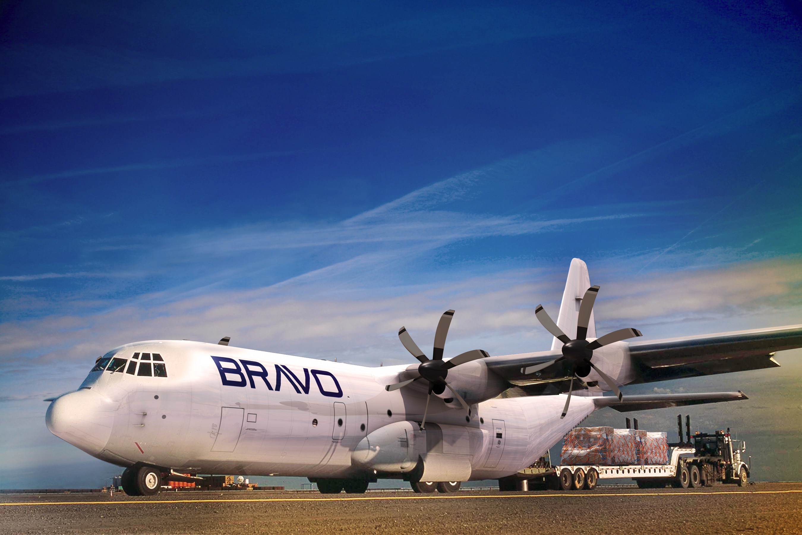 Bravo Industries announced it will purchase 10 LM-100J commercial freighters from Lockheed Martin at Farnborough Air Show on July 12, 2016.