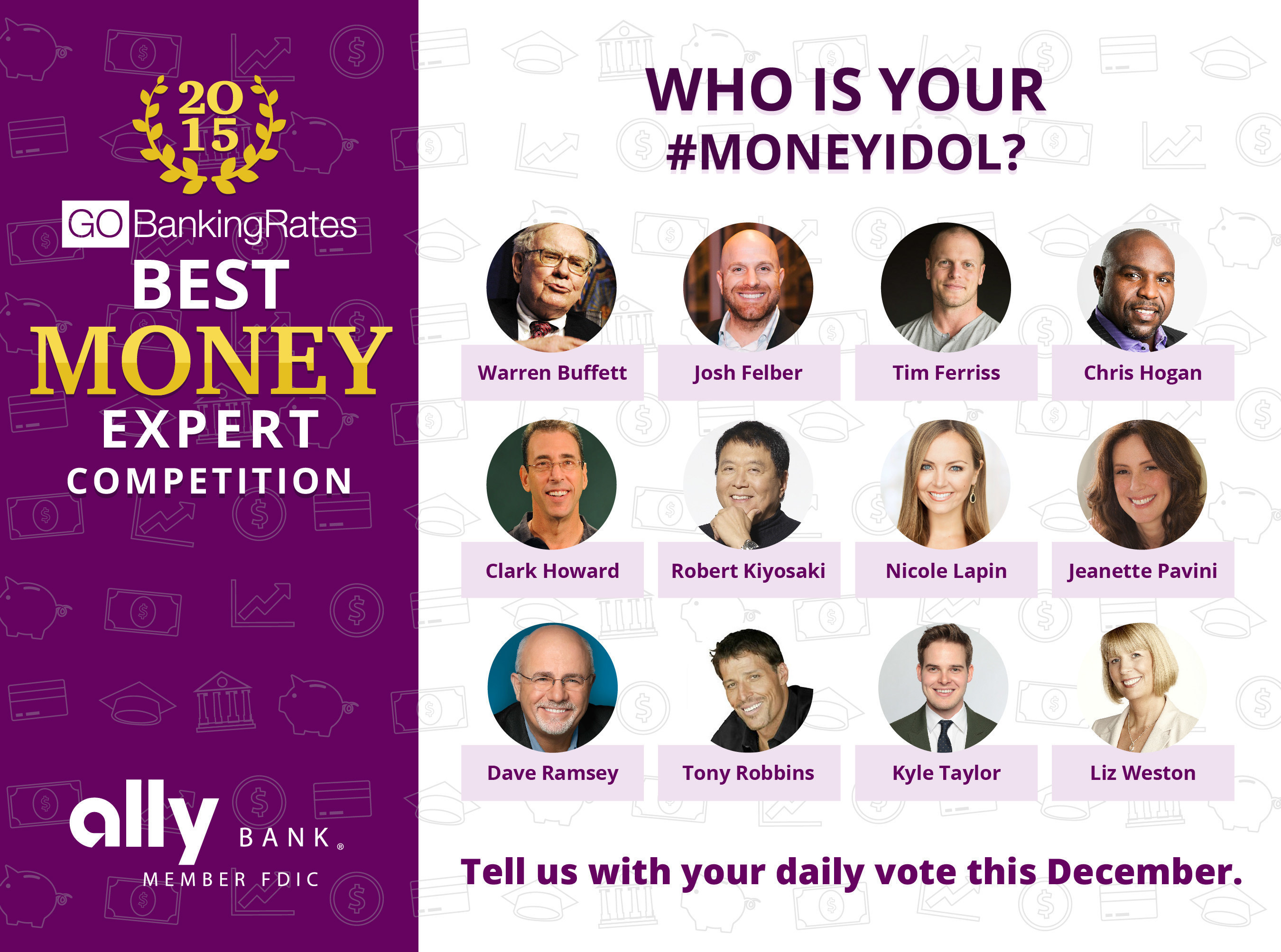 12 Biggest Money Experts of 2015 to Compete in GOBankingRates' 'Best Money Expert' Competition