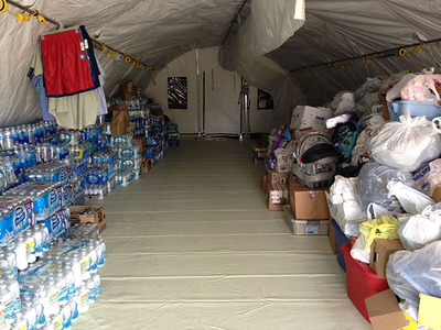 Alaska Structures Inc. donated 22 military-style portable structures to support the recovery efforts in Oklahoma.  (PRNewsFoto/Alaska Structures Inc.)
