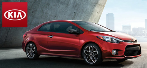 The 2015 Kia Forte Koup offers a wide variety of tech features that defy the traditional economy car stereotype while still offering an impressively low starting price. (PRNewsFoto/Palmen Kia)
