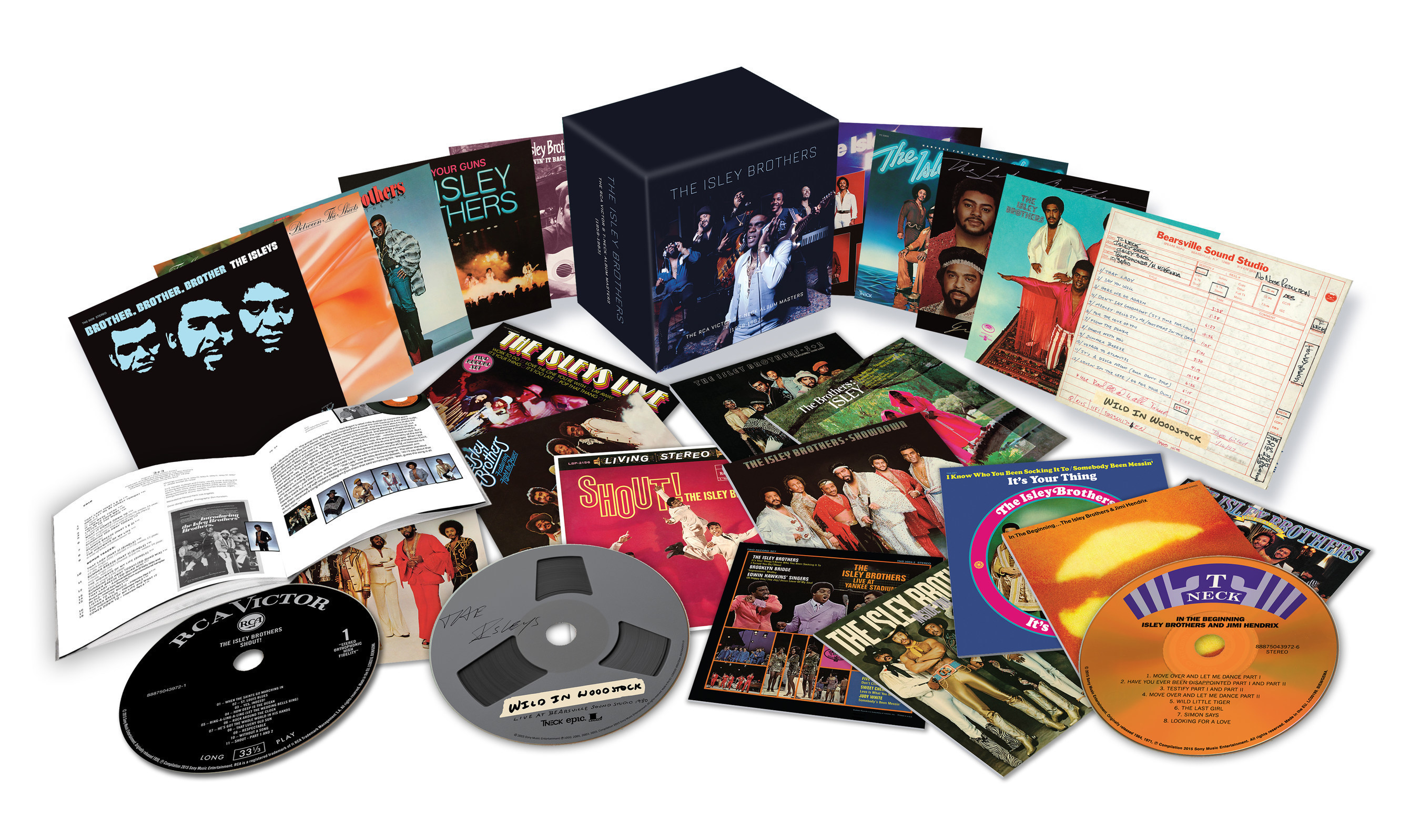 The Isley Brothers: The RCA Victor and T-Neck Album Masters (1959-1983), a monumental 23-disc box set, to be released on Friday, August 21, 2015