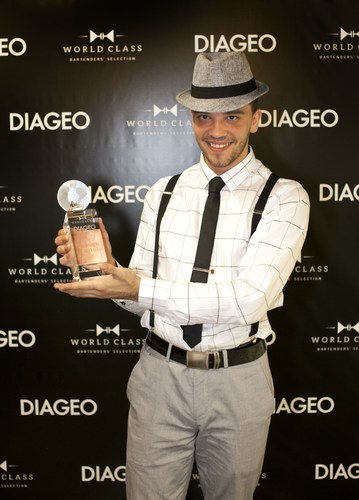 Andrej Malic, 27 of Celebrity Cruises has been crowned Diageo Global Travel's Best Bartender for World Class (PRNewsFoto/Diageo Global Travel)