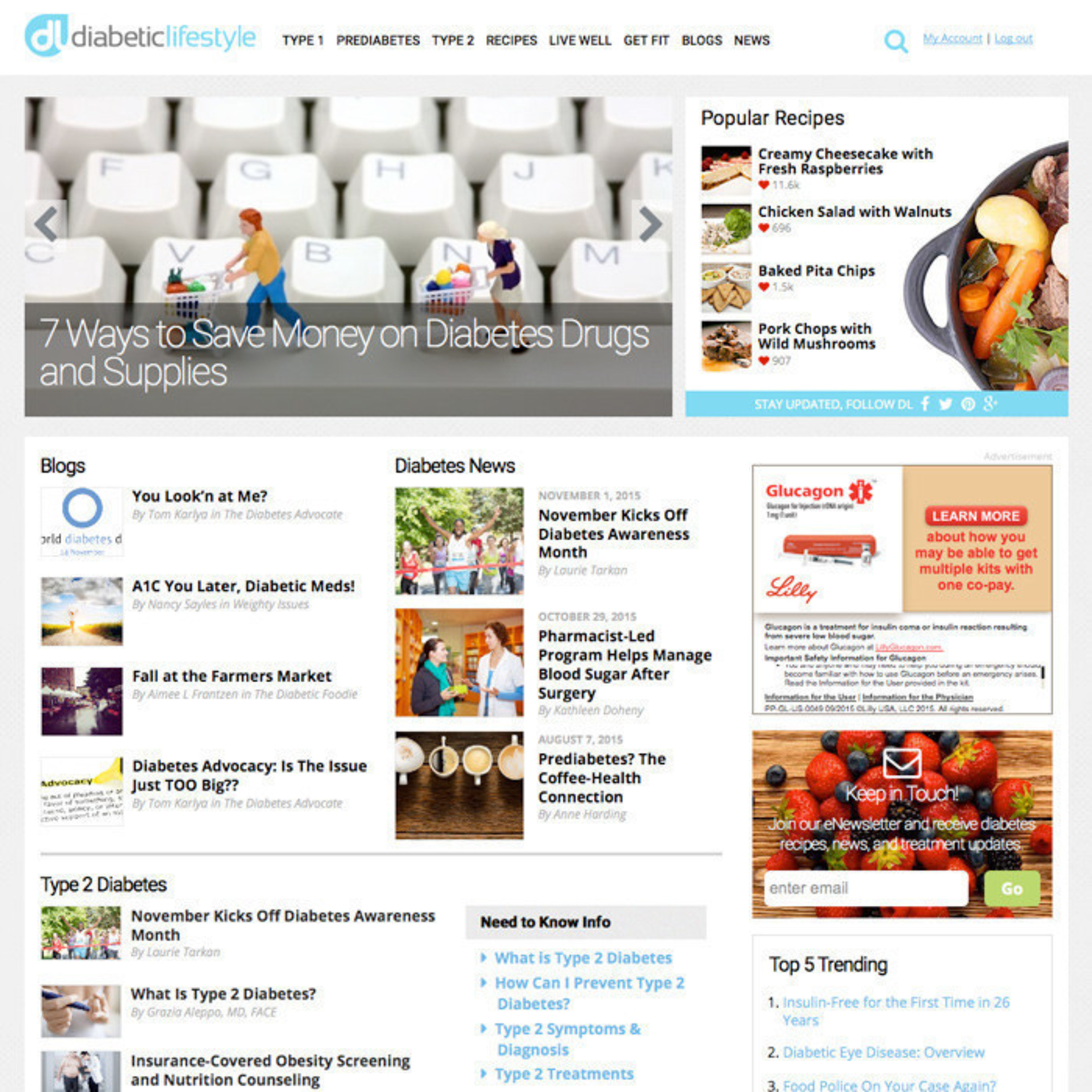 DiabeticLifestyle.com Relaunches During Diabetes Awareness Month; Expands Health Coverage and