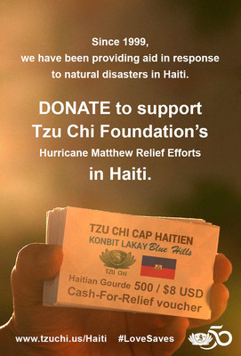 "In 2014, Tzu Chi's ""Konbit Lakay (Sweet Home) Blue Hills"" Cash For Relief program provided job opportunities to 1600 participants, motivating the local residents to clean up their own communities after the flood in Cap-Hatien, Haiti."