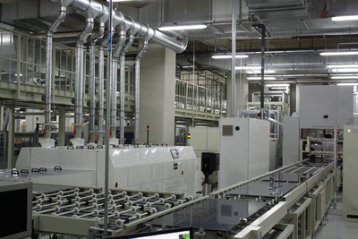 TSMC Solar S-Fab production line, located in Taichung, Taiwan.  (PRNewsFoto/TSMC Solar Ltd.)