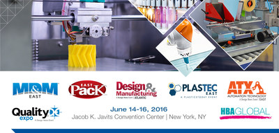The East Coast's Largest Advanced Manufacturing Event, Spanning Medtech, Automation, Packaging & More | June 14-16, 2016 • Jacob K. Javits Convention Center • New York, NY