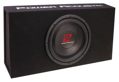 """Power Acoustik Thin-120BXA pre-loaded enclosure with 12"""" subwoofers"""