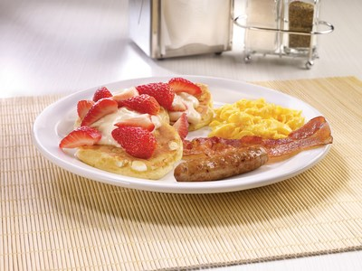 "Denny's ""Free Pancakes for Kids"" offer includes a variety of new kid-sized signature dishes like the Jr. Strawberries & Cream Pancakes"