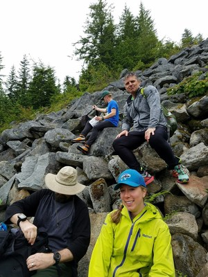 A group of veterans and their families in the Pacific Northwest are actively taking part in a virtual hiking program, which requires participants to walk or hike three to four times per week on their own and track their progress.