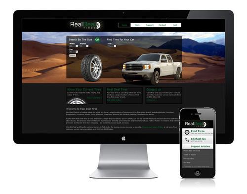 Example Ezytire Website. (PRNewsFoto/Tireweb Marketing) (PRNewsFoto/TIREWEB MARKETING)