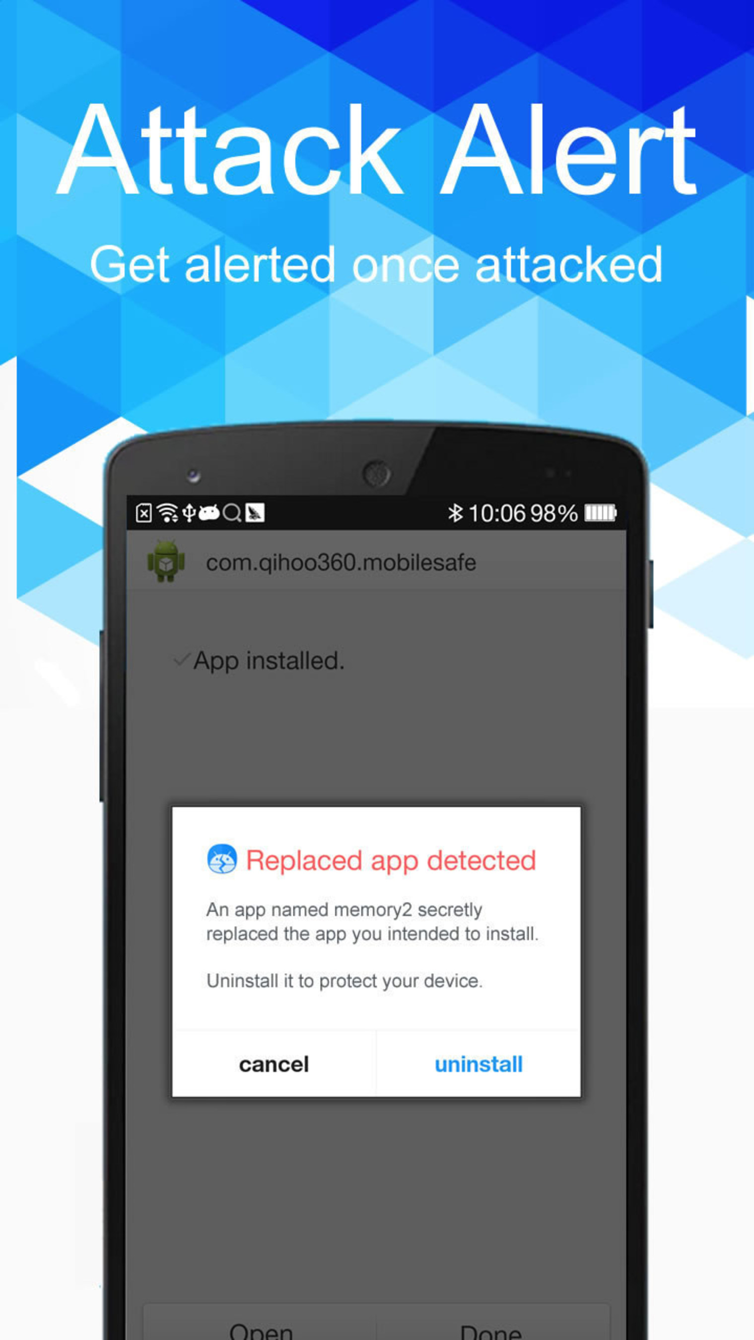 World's first Android app for Installer Hijacking Vulnerability Installer Hijacking Defenderlaunched