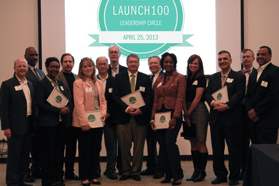 Nine Northeast Ohio entrepreneurial companies were recognized as new members of the Charter One Launch100 Leadership Circle a designation recognizing diverse entrepreneurs committed to turning their business ideas into some of the region's most impactful companies.  (PRNewsFoto/JumpStart, Inc.)