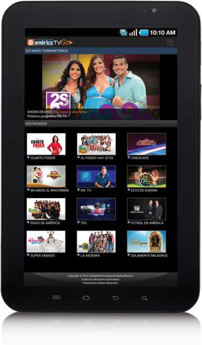 America TVGO - Aplicacion en Android.  (PRNewsFoto/Orbem Networks)