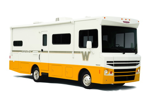 The new vintage-inspired Winnebago Brave was introduced to rave reviews at Winnebago's Dealer Days event in Las Vegas. (PRNewsFoto/Winnebago Industries, Inc.)