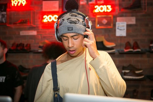 Jordan Stephens performs DJ set at Timberland Black Forest UK Launch Party (PRNewsFoto/Timberland) (PRNewsFoto/Timberland)