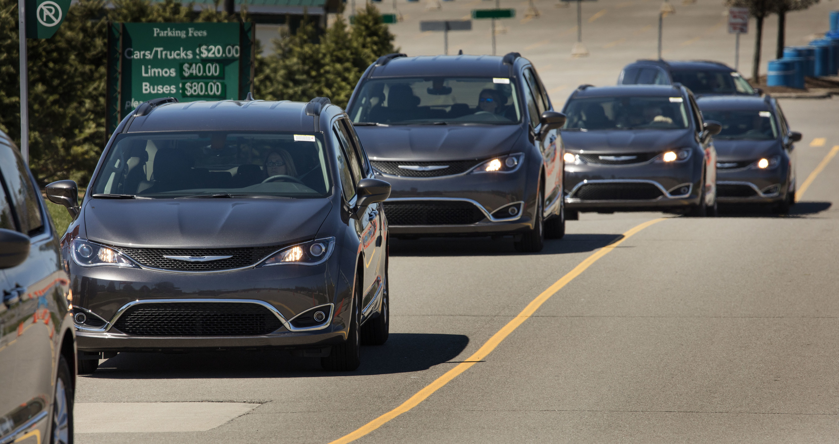 In the largest ever Drive Away hosted by FCA US, more than 200 all-new 2017 Chrysler Pacifica minivans were showcased side-by-side before making their way to dealerships across the Midwest.
