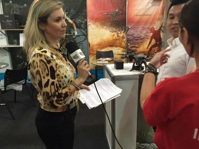 Journalist from Rit TV interviews FLYPRO