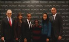 Efraim Grinberg, Chairman & CEO, Movado Group, Inc.; Sharlee Jeter, President, Turn 2 Foundation; Aubrey Lynch II, Director of Dance, The Harlem School of the Arts; Caleb McLaughlin, Actor and Alumnus, The Harlem School of the Arts; Yvette L. Campbell, President & CEO, The Harlem School of the Arts; Derek Jeter.