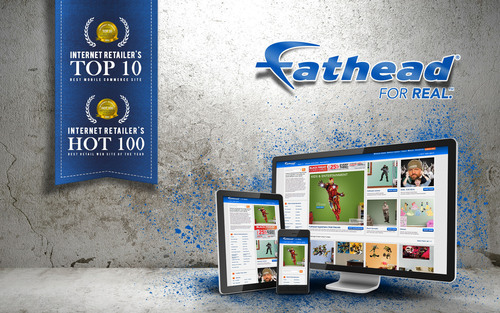 Fathead Named By Internet Retailer as a Top 10 Mobile Site and Hot 100 Online Retail Site for 2014. (PRNewsFoto/Fathead LLC) (PRNewsFoto/FATHEAD LLC)