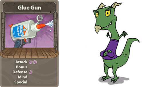 Example of card artwork for monsters and weapons.  (PRNewsFoto/Symplay)