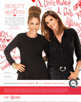 "Cindy Crawford and Sonia Kashuk appear in a print and television public service announcement for ""QVC and CEW Present Beauty with Benefits,"" scheduled to air on QVC Wednesday, April 15 at 10 PM (ET)"