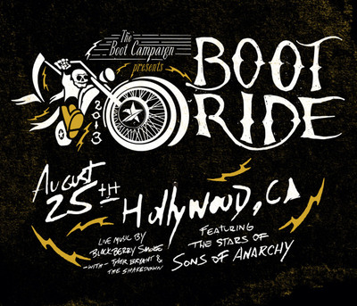 Cast of FX's Sons of Anarchy to host 3rd Annual Boot Ride & Rally. August 25th in Los Angeles. Benefitting troops through the Boot Campaign. http://BootRide.com.  (PRNewsFoto/The Boot Campaign)