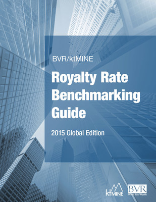 New BVR/ktMINE Royalty Rate Benchmarking Guide, 2015 Global Edition provides industry-level insights into licensing and royalty rate trends.