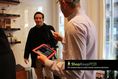 ShopKeep POS iPad Mini Register Helps Merchants Move Through Lines Faster.  (PRNewsFoto/ShopKeep POS)