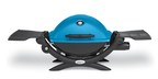Weber's Q1200 gas grill comes in 6 vibrant colors, including blue